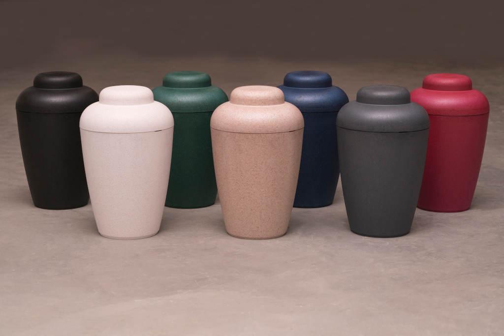 Natur urne - rød, hvid, grøn, blå, grå, sort, natur
